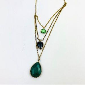 Anthropologie Three gem tiers Necklace